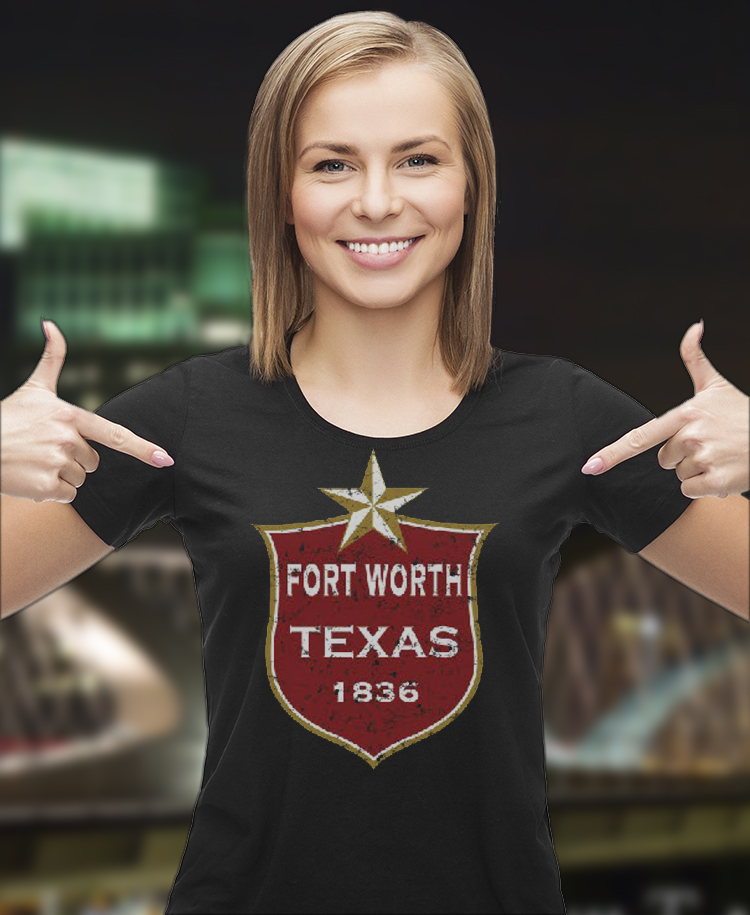 Texas Emblem Fort Worth Printed T-Shirt