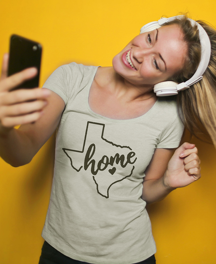 Women's Texas is Home Printed T-shirt